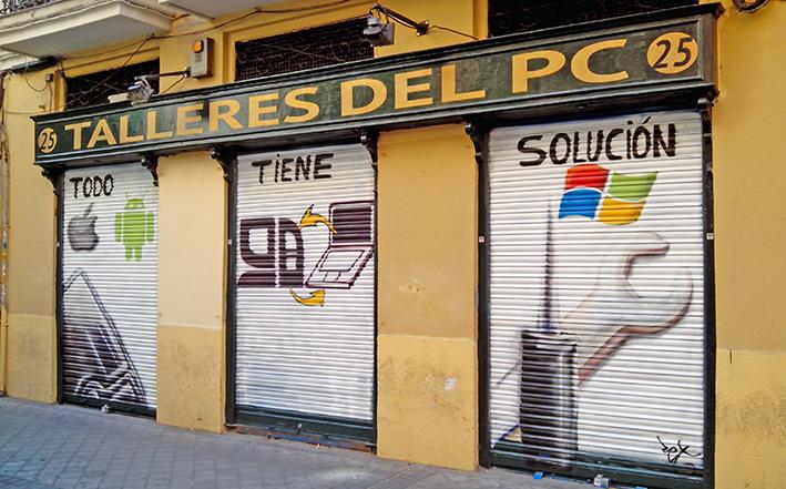 fachada taller de reparacion informatica en Madrid centro