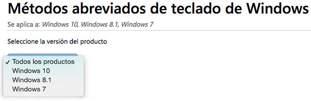 Atajos de Teclado para WINDOWS 10 1